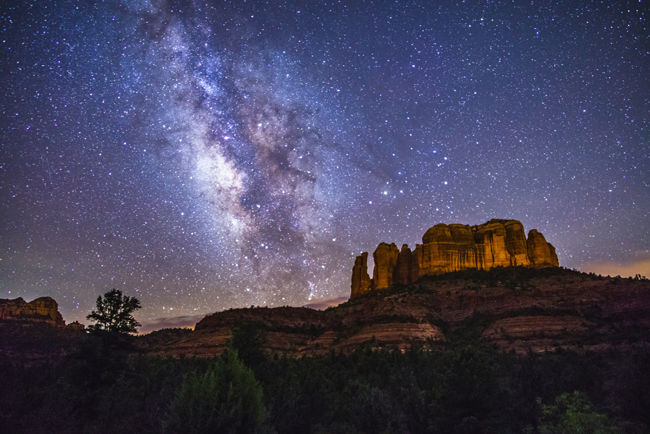 Milky Way over Cathedral Rock